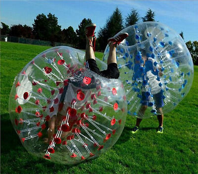 2PCS 1.5M Body Inflatable Bumper Football PVC Zorb Ball Human Bubble Soccer Ball