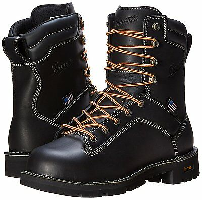Danner Quarry 8 Inch, Black, Steel And Soft Toe (Multiple Sizes 17309, 17311)