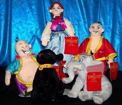 Warner Bros THE KING AND I bean bag plush WB beanie doll toy LOT w/Tusker RAMA