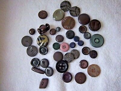 Button Lot Mixed Vintage and Modern Early Plastic Chunky Coat