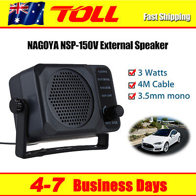 NSP-150V Car External Speaker for Yaesu Kenwood Icom Motorola Radio 3.5mm Jack