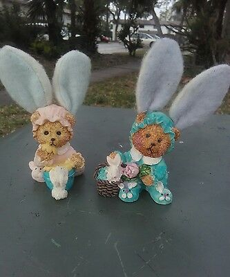 "5""Bunny figurines (2) Floppy or Standup Eared!"