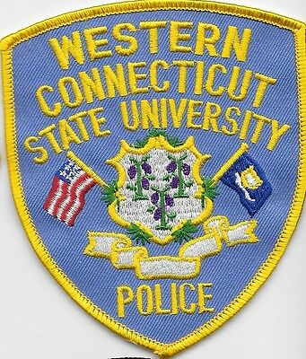 West Connecticut Ct Conn State Univ Police Dept Cross Flags School College