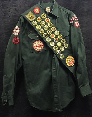 Rare Vintage BSA 1950s Explorer Boy Scout Uniform Badges Sash Pants Shirt Belt
