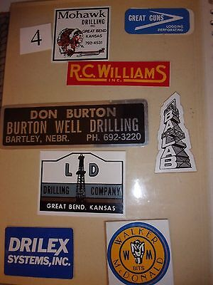# 4    Oil field Stickers Mudd Hardhat stickers vintage  70's 80's