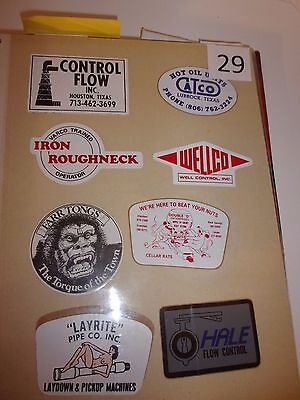 #29   Oil field Stickers Mudd Hardhat stickers vintage  70's 80's