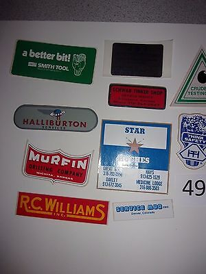 #49  Oil field Stickers Mudd Hardhat stickers vintage  70's 80's