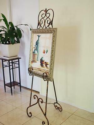 French Style Iron Scroll Menu Sign Frame Wedding Board Display Easel CPR003