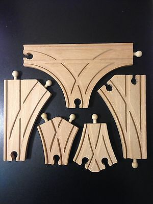 Wooden Railway Specialty Expansion Switch Train Track Accessories