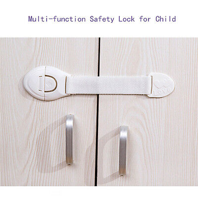 10/20x Fridge Drawer Door Cabinet Cupboard Lock Child Infant Baby Toddler Safety