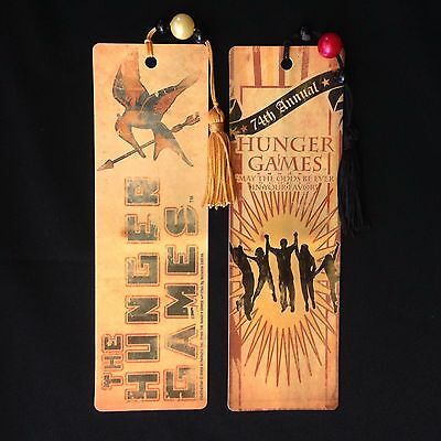 The 74th Hunger Games, 2 Bookmarks with Tassels / Beads, Suzanne Collins 2010