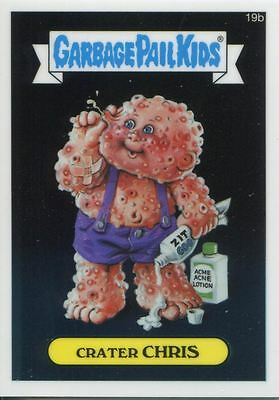 Garbage Pail Kids Chrome Series 1 Base Card 19b CRATER CHRIS