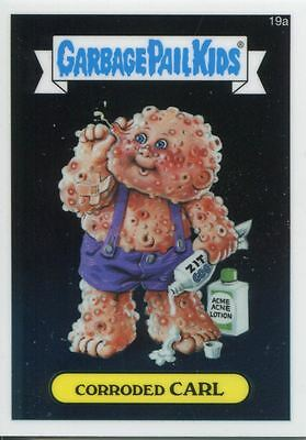 Garbage Pail Kids Chrome Series 1 Base Card 19a CORRODED CARL