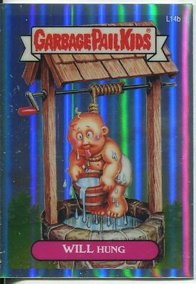 Garbage Pail Kids Chrome Series 1 Refractor Lost Card L14b Will Hung