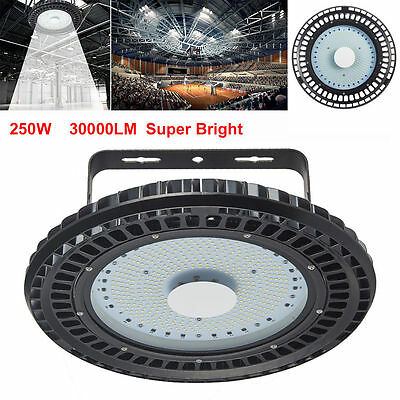 250W UFO LED High Bay Light Factory Warehouse Industrial Gym Shed Lighting 6500K