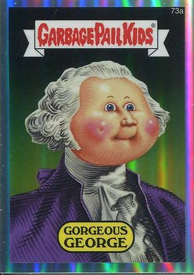 Garbage Pail Kids Chrome Series 2 Refractor Parallel 73a GORGEOUS GEORGE