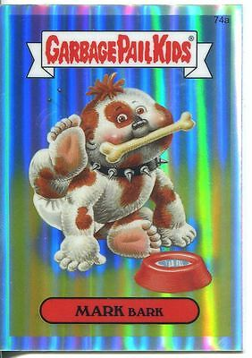 Garbage Pail Kids Chrome Series 2 Refractor Parallel 74a MARK BARK