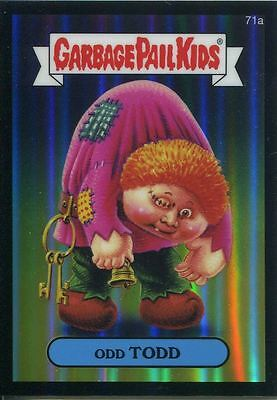 Garbage Pail Kids Chrome Series 2 Black Refractor Parallel 71a ODD TODD