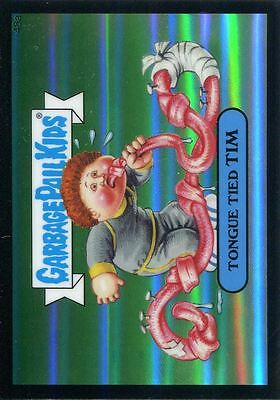 Garbage Pail Kids Chrome Series 2 Black Refractor Parallel 48a TONGUE TIED TIM
