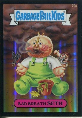 Garbage Pail Kids Chrome Series 2 Black Refractor Parallel 70a BAD BREATH SETH