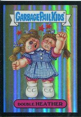 Garbage Pail Kids Chrome Series 2 Black Refractor Parallel 49a DOUBLE HEATHER