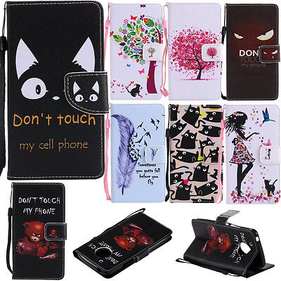 For Motorola Moto G5 phone case pu leather wallet stand patterns cover+strap