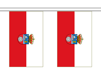 Spain Cantabria Polyester Flag Bunting - 6m long with 20 Flags