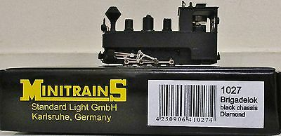 Minitrains 1027 - German Brigadelok Loco Black. (009/HOe Narrow Gauge)