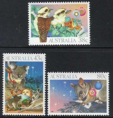 Australia 1990 Christmas U/m Set Of 3