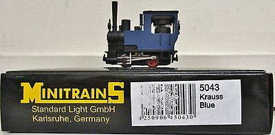 Minitrains 5043 -Krauss Locomotive blue unlettered. (009/HOe Narrow Gauge)