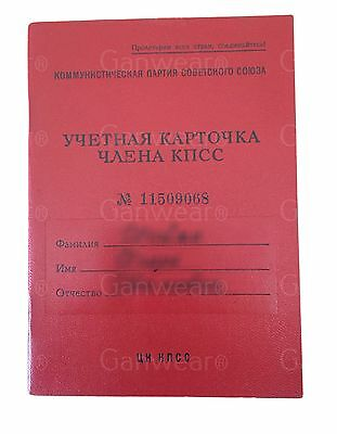 Soviet Communist Party Membership Book Record Registration Card USSR Memorabilia