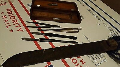 Reduced1800S Antique Vintage Surgical Autopsy Set Otto &sons Maybe Disston Knife