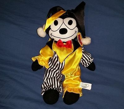 "Felix the Cat jester joker 14"" Toy Factory stuffed plush doll 2004 with tags"