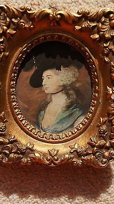 Vintage Gesso Framed Print Of Mrs Siddons By Gainsborough