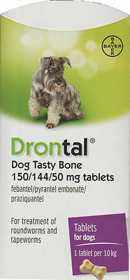 Drontal Plus for Dogs *6 Tablets*  Genuine Bayer