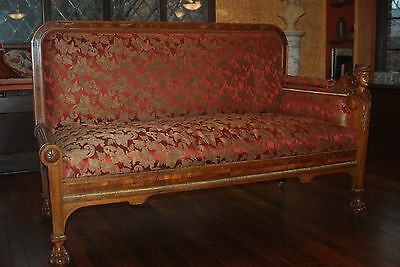 Antique French Empire-Style Figural Sofa