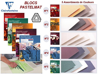 Clairefontaine Pastelmat Art Pad 30x40cm Pastel Drawing Paper 360gsm Card