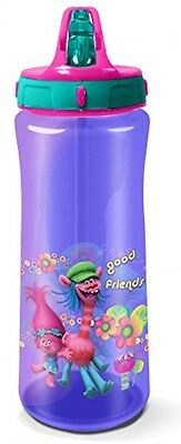 Trolls Drinks Bottle, Purple Packed Lunch Picnic or Day Trip 590 ml *HQ*