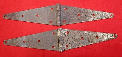 2 Vintage Large Iron Strap Hinges Rustic Barn Door Gate Rust  24""