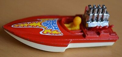 Matchbox Lesney Superfast No 5 Seafire Speed Boat - Red / Yellow Driver