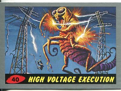 Mars Attacks Heritage Silver Parallel Base Card #40    High Voltage Execution
