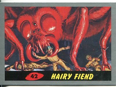 Mars Attacks Heritage Silver Parallel Base Card #42    Hairy Fiend