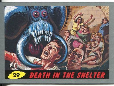 Mars Attacks Heritage Silver Parallel Base Card #29    Death in the Shelter