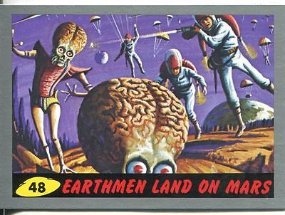 Mars Attacks Heritage Silver Parallel Base Card #48    Earthmen Land on Mars