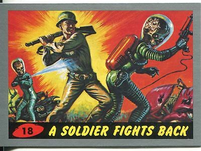 Mars Attacks Heritage Silver Parallel Base Card #18    A Soldier Fights Back