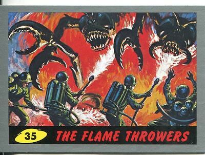 Mars Attacks Heritage Silver Parallel Base Card #35    The Flame Throwers