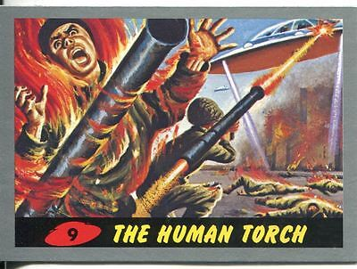 Mars Attacks Heritage Silver Parallel Base Card #9    The Human Torch