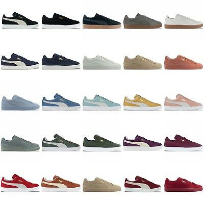 on sale 5cfc3 8f8c5 PUMA SUEDE CLASSIC Trainers - Black, Blue, Burgundy, Grey, Navy, Green &  More