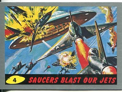 Mars Attacks Heritage Silver Parallel Base Card #4    Saucers Blast Our Jets