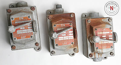 Vintage Rustic Crouse-Hinds Efsc-1129 Snap Switch, 250V/10A, Tested* Steampunk